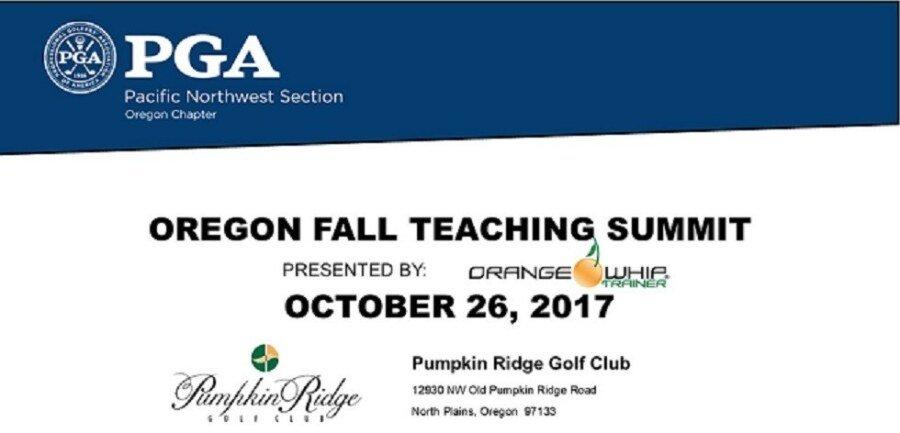 OPGA Fall Coaching & Teaching Summit @ Pumpkin Ridge Golf Club