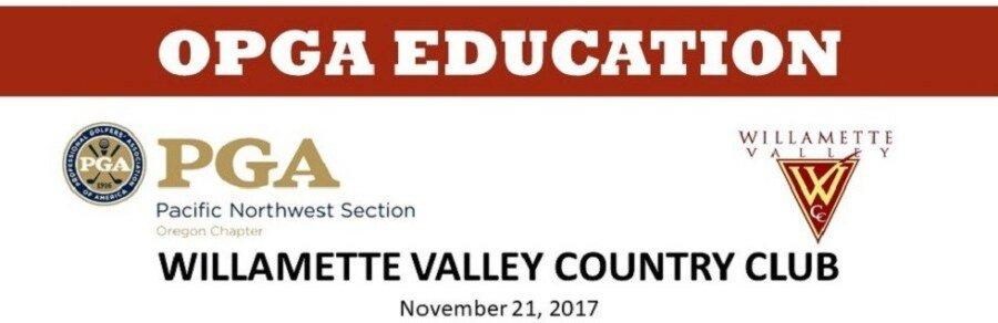 Building Your Career Value & PGA Junior League @ Willamette Valley CC